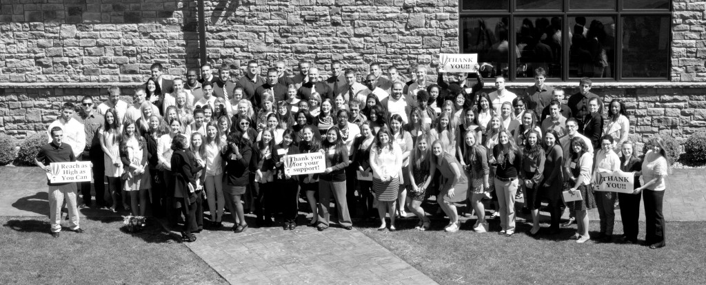 Student scholarship recipients gather for a group photo following the Fifth Annual Scholarship Luncheon Photo Courtesy / Caryn Wilkie