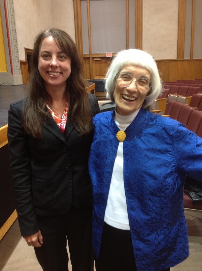 Professor McKenzie with Bernice SandlerPhoto Credit / Dana Reese
