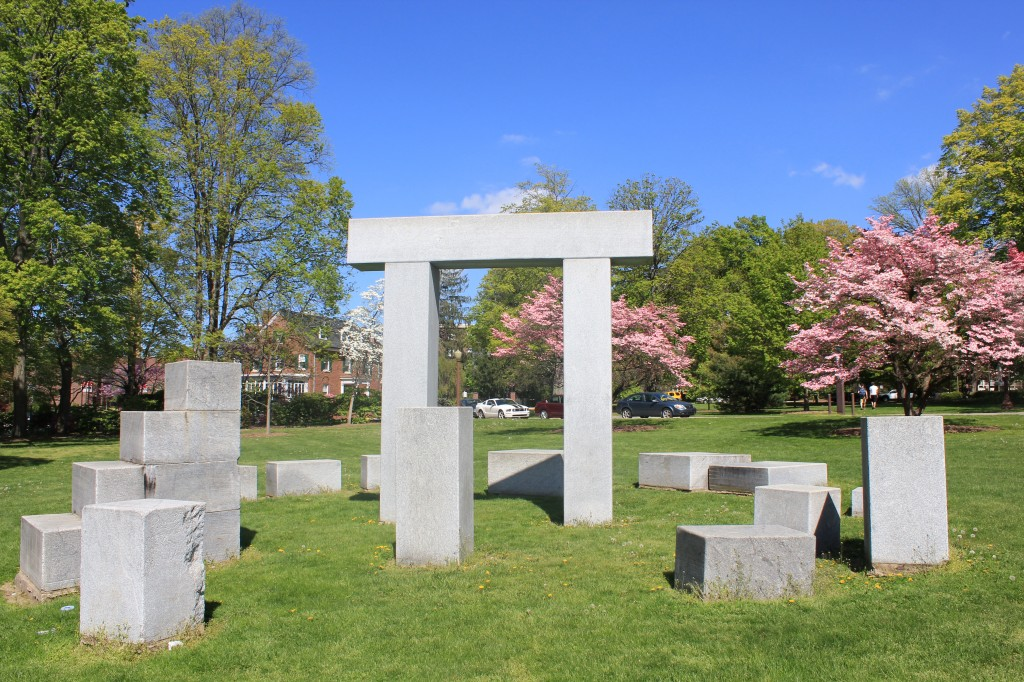 """Arch Homage,"" located at the front of the ESU Campus.Photo Credit / Jamie Reese"