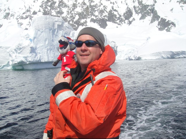 Professor Joe Warren in Antarctica Photo Courtesy / Chris Powers