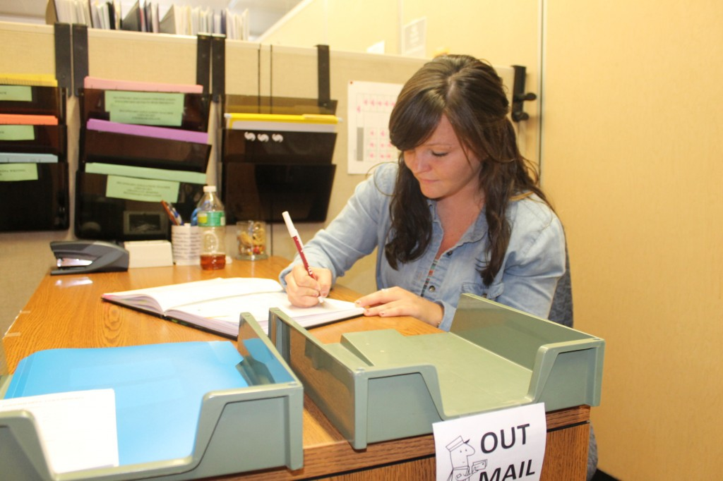 Amanda Koenig works in the English department in her spare time. Photo Credit / Audra Organetti