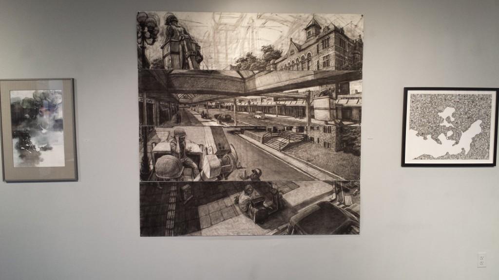 Artwork displayed at Marks: A National Juried Drawing Exhibit. Photo Credit / David Nostrand