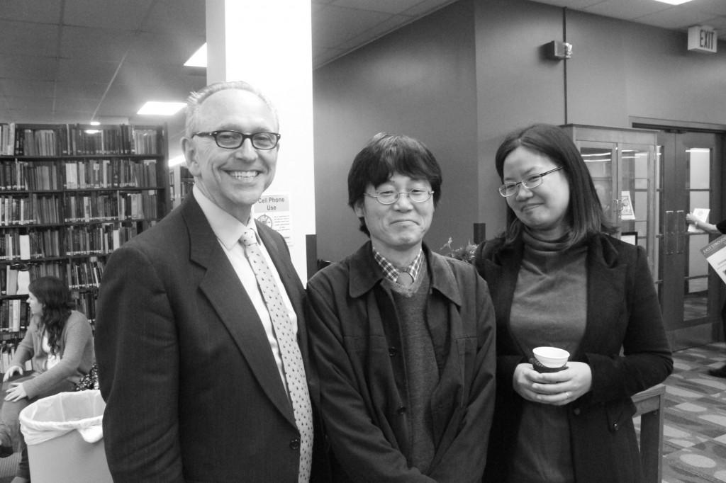 Dr. Heon Kim, center, teaches religious studies at ESU. Photo Credit / Jamie Reese