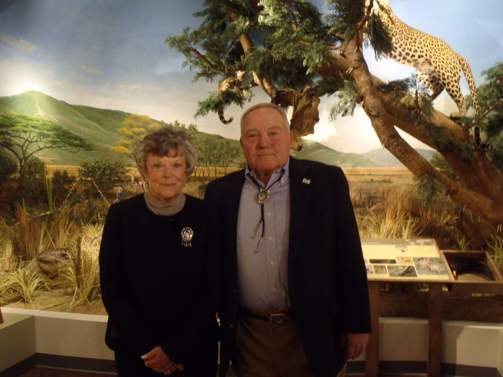 Fannie and Arthur Schisler, the alumni who donated the taxidermy exhibit. Photo Credit / Rebecca Jasulevicz