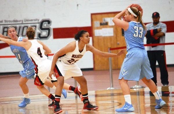 ESU freshman forward had 12 points and 13 rebounds in her Warriors debut. Photo Credit / Sam Haber
