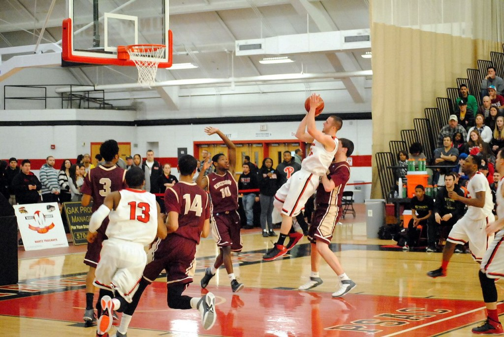 Matt Tobin scores two of his 15 points of the night. Photo Credit / Abigail Dobrowolski