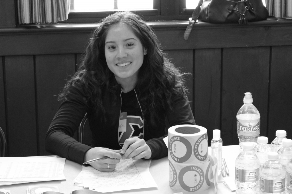 Karla Delamata, Secretary of the Pre-Med Club, was working the registration table. Photo Credit / Jamie Reese