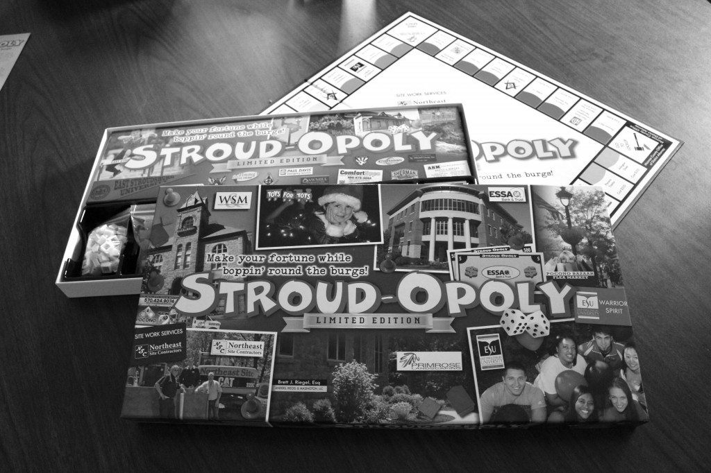 The proceeds from Stroud-opoly will go toward Toys for Tots. Photo Credit / Jamie Reese