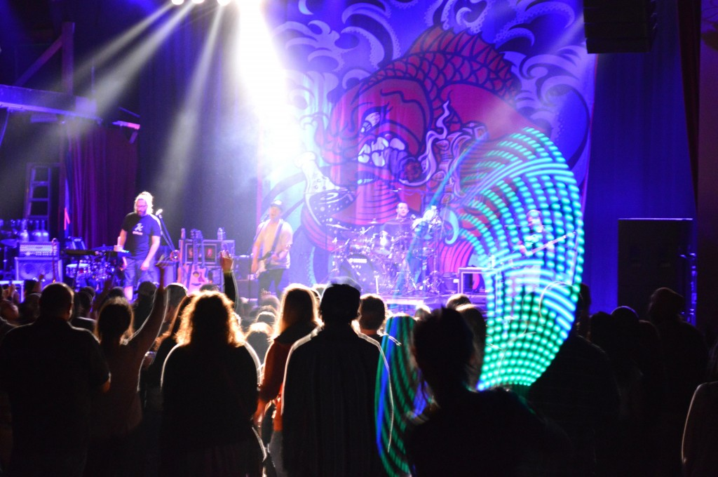 The Badfish concert was much like a light show at the Sherman Theater.  Photo Credit / Crystal Smith