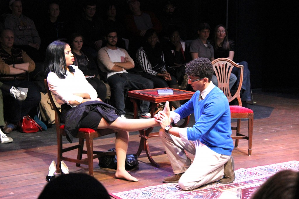 "Jannel Armstrong and Brandon Cabrera at ESU's ""Spike Heels"" production. Photo Credit / Jamie Reese"