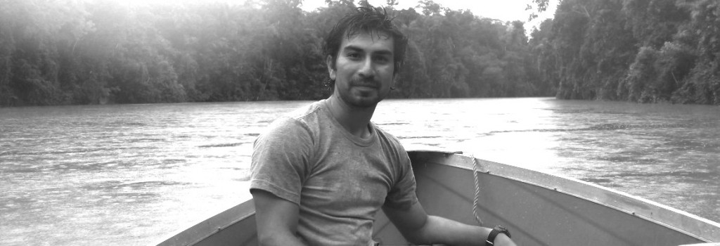 David Good traveling by boat to the Amazon jungles.   Photo Courtesy of David Good