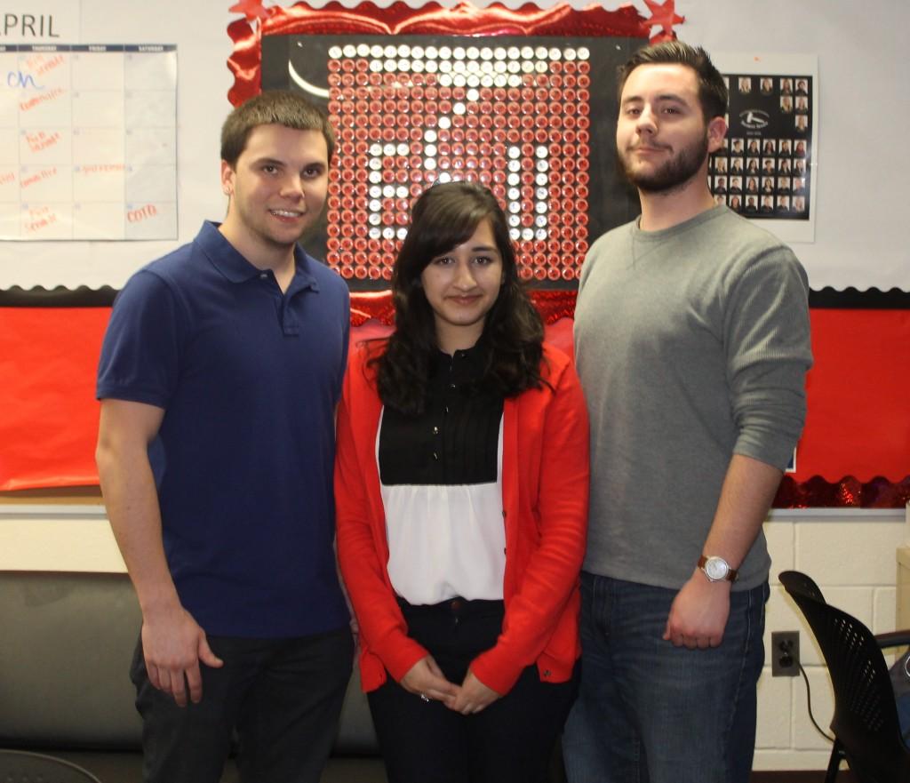 Chris Smith, Atiba Khan and Ryan Stevens are members of the Student Senate Finance Committee.  Photo Credit / Victoria Krukenkamp