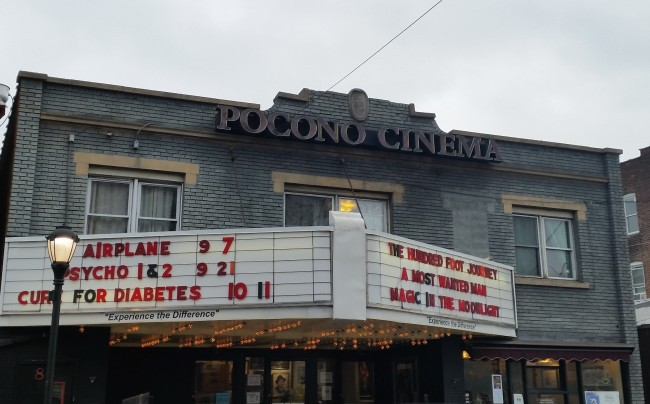 The Pocono Community Theater is located on Courtland Street.  Photo Credit / Amanda Schreck