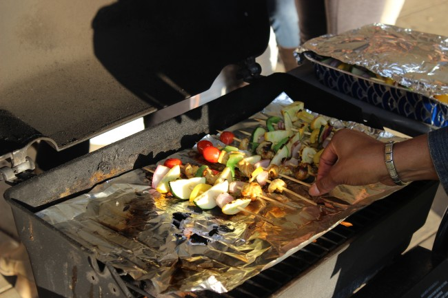 Attendees of the Latino Heritage Month Mixer enjoyed shish kabobs on Tuesday. Photo Credit / Jamie Reese
