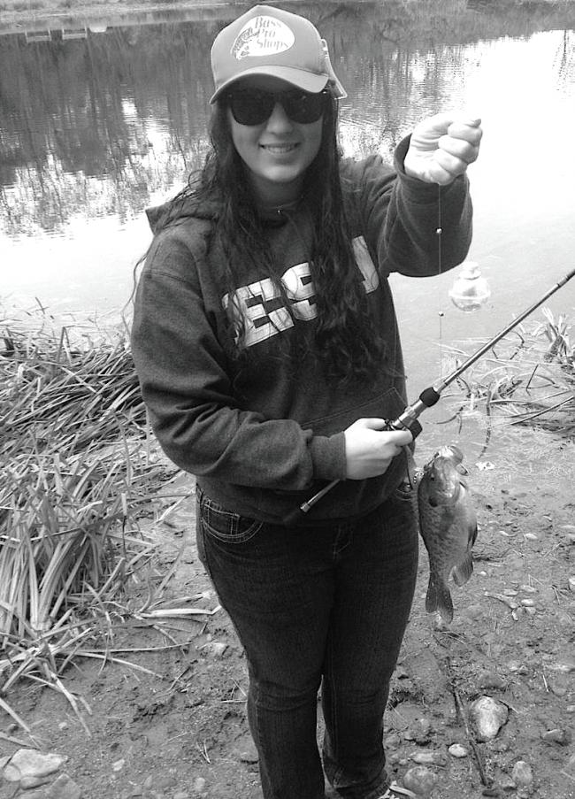 ESU senior Briana Magistro frequently visits Stony Acres to go fishing. Photo Credit / Zachary Gotthardt
