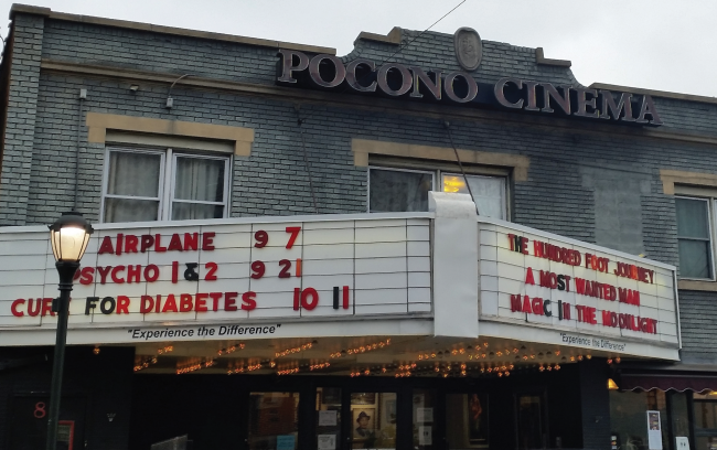 Pocono Community Theater is located on South Courtland Street. Photo Credit / Amanda Schreck