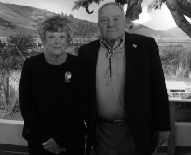Arthur and Fannie Schisler in the museum during last year's grand opening. Photo Credit / Rebecca Jasulevicz