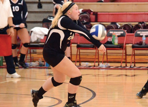 ESU junior libero Haley Molk led ESU with 47 digs in the weekend stretch. Photo Credit / Tory Stella