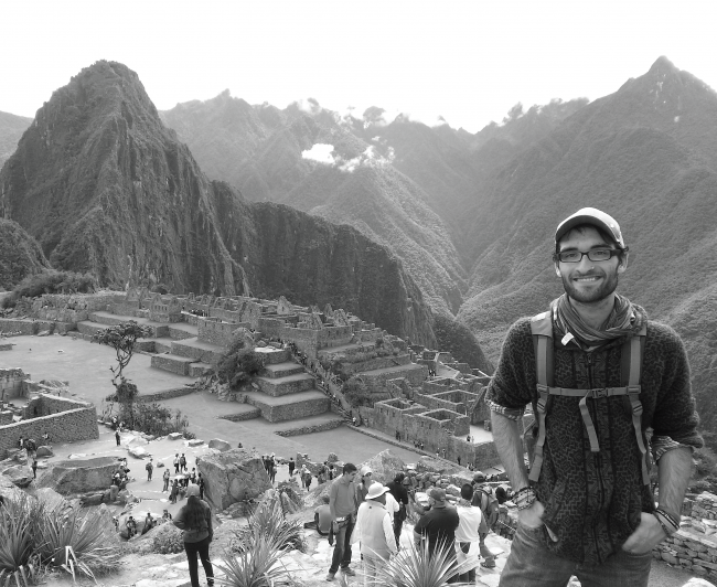 Hunter Fogel in front of Machu Picchu, a location he visited while volunteering in Peru for four weeks during the summer. Photo Courtesy / Hunter Fogel