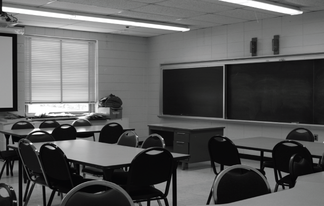 One of the many classrooms in Stroud Hall. Photo Credit / Amy Lukac