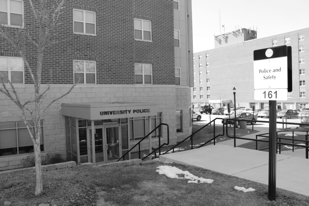 The university's police station is located in the Hemlock Suites. Photo Credit / Amy Lukac
