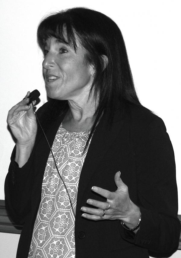 """Karen Purcell, author """"Unlocking Your Brilliance: Smart Strategies for Women to Thrive in STEM,"""" spoke at ESU on February 19. Photo Credit / Ronald Hanaki"""