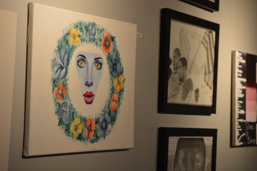 """Second prize went to Paul Burke for his oil painting, """"Flower Face."""" Photo Credit / Crystal Smith"""