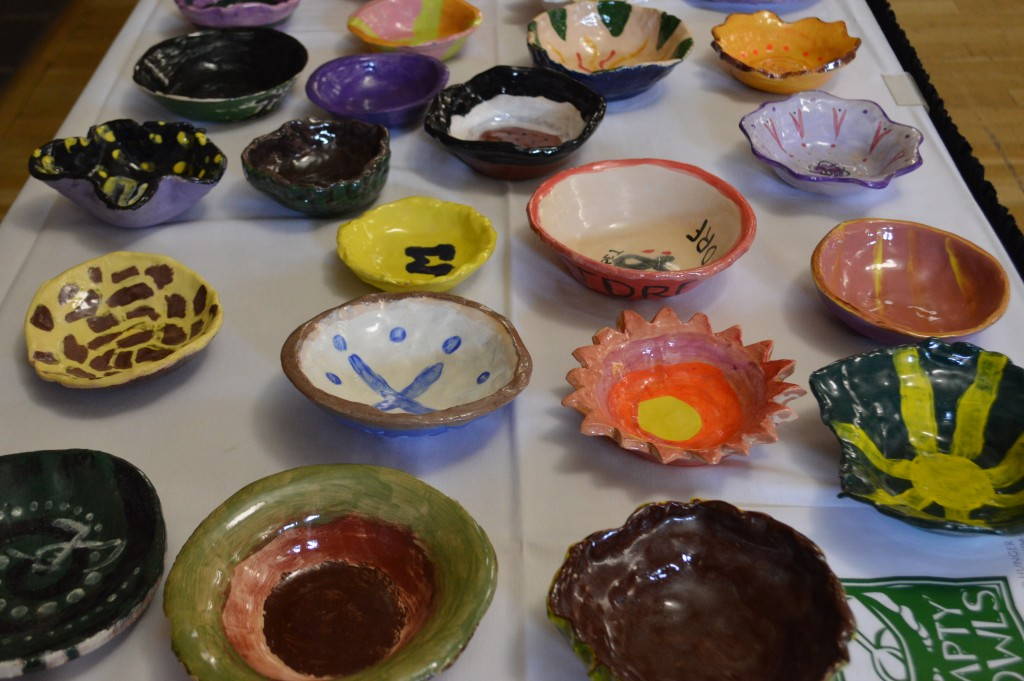 The ESU Art Department made bowls to give away at the Empty Bowls event last Thursday. Photo Credit / Crystal Smith