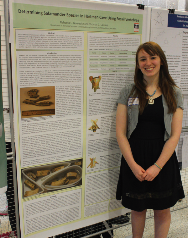 Rebecca Jasulevicz presented on fossils from a local cave. Photo Credit / Jamie Reese