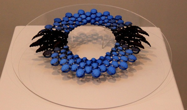 Necklaces on display at the Live Design exhibit. Photo Credit / Mitch Williams
