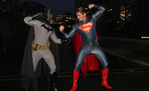 Batman v Superman cosplay at the 2015 New York Comic Con. Photo Credit / Richie S