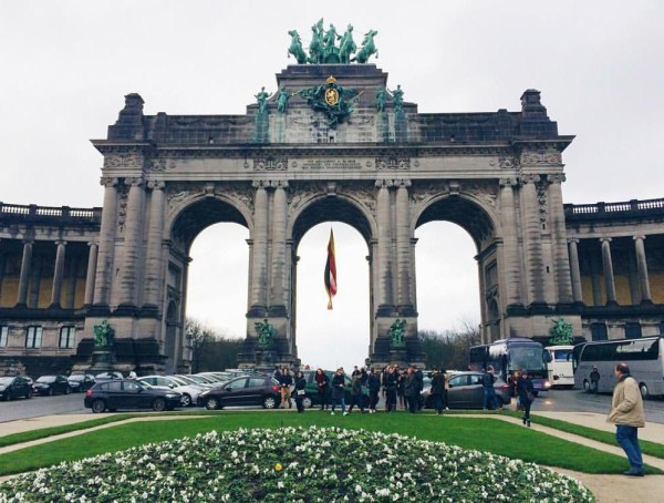 Landmark arch in the city park at the center of Brussels. Photo Credit / Virginia Pope