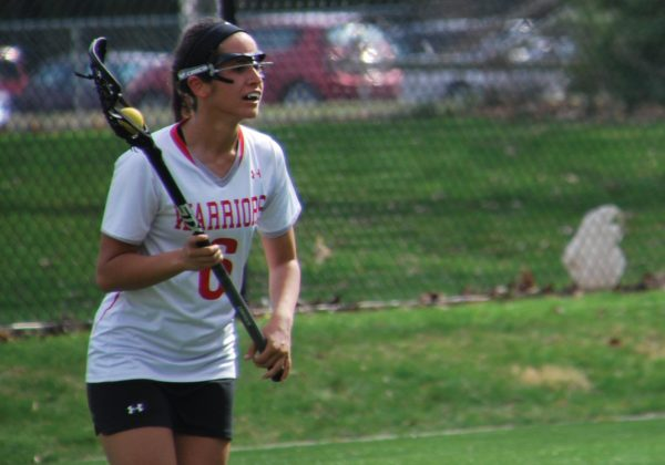 Senior attack Lauren Nunes broke ESU's career points record last Sunday. Photo Credit / Ronald Hanaki