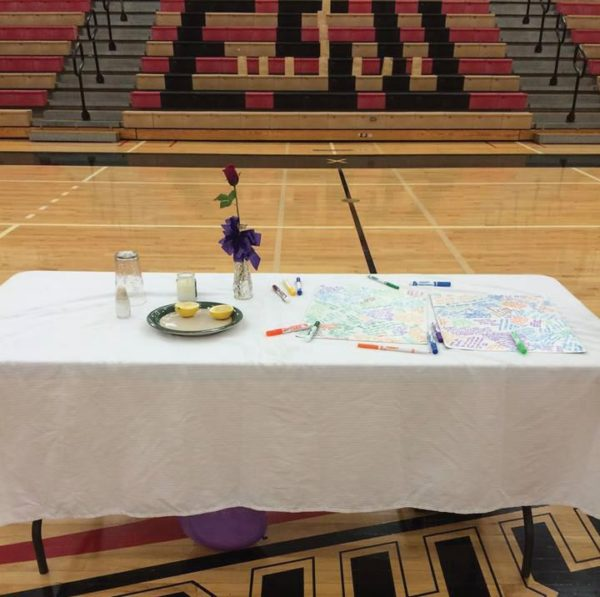 Last year's Empty Table Ceremony imparts a symbolic sentiment. Photo Courtesy / Gabrielle Marcanton