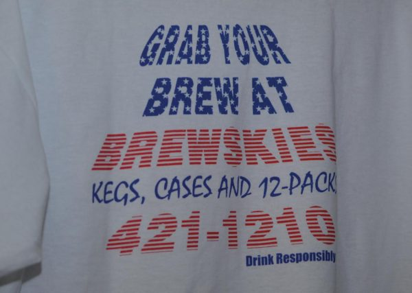 Campus is flooded with students in Brewskies shirts. Photo Credit / Lance Soodeen