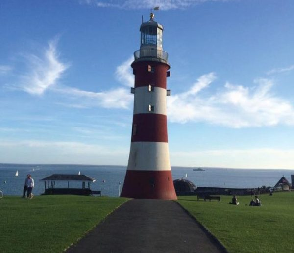 This lighthouse, Smeaton's Tower, was one of the stops in Janice's journey. Photo Credit / Janice Tieperman