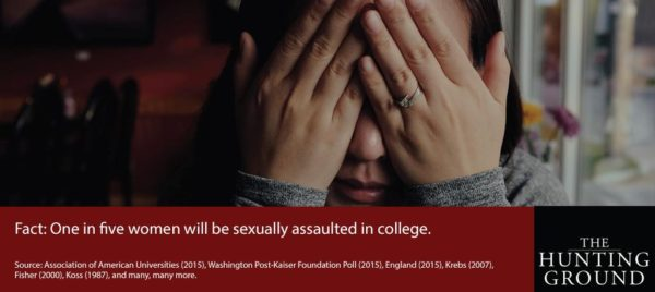 """""""The Hunting Groung"""" encourages university students to spread awareness about sexual assults on campuses. Photo Courtesy / The Hunting Ground"""