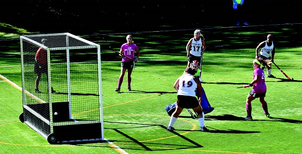 "ESU scored five goals against Seton Hill in its annual ""Think Pink"" game on Homecoming. Photo Credit / Ronald Hanaki"
