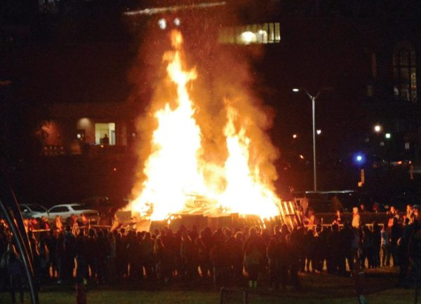 Friday's Homecoming bonfire. Photo Credit / Lance Soodeen