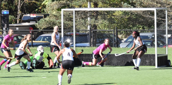 With the goalkeeper out, Emily Howell is the team's last hope. Photo Credit / Ronald Hanaki