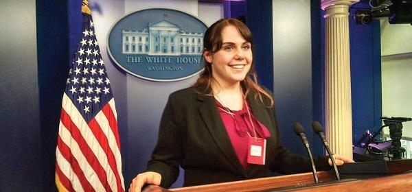 Jillian represented ESU and 90.3 WESS at the White House last Thursday. Photo Courtesy / Jillian Deiley