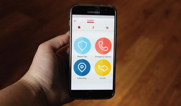 The LiveSafe App is on display. Photo Credit / Kathleen Kraemer