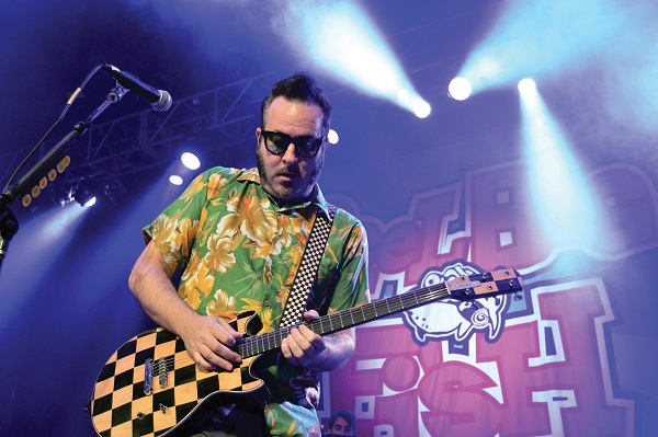 Aaron Barrett, singer/guitarist of Reel Big Fish, kept the crowd happy and music bumping. Photo Credit / Lance Soodeen