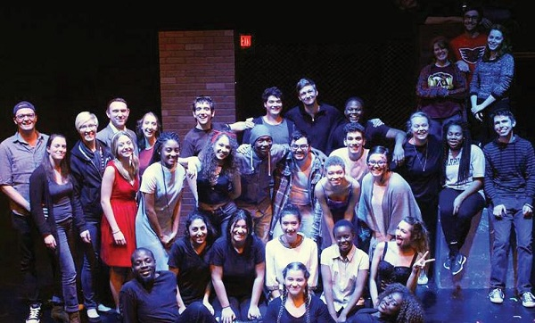"The cast and crew of ""Anon(ymous)."" Photo Courtesy / Stage II"