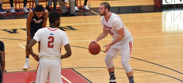#10 Steve Harris had 18 points and 17 rebounds against PSU Wilkes-Barre. Photo Credit / Ronald Hanaki