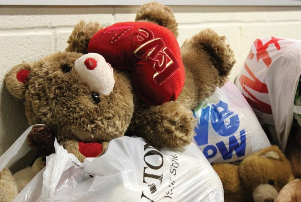 Donated bears and various other stuffed animals will be donated to children in need this Saturday. Photo Credit / Richard MacTough