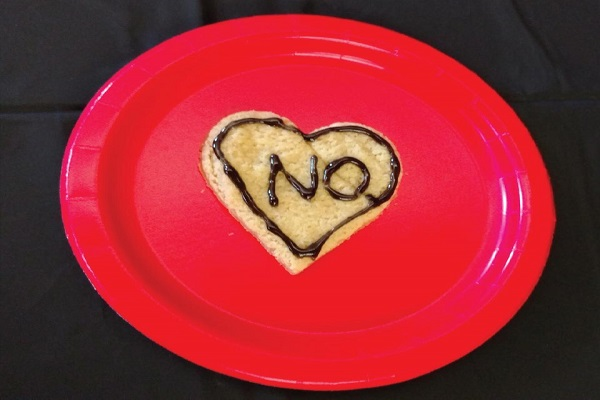 "An ""Anti-Valentine's Day"" cookie. Photo Courtesy / Edita Bardhi"