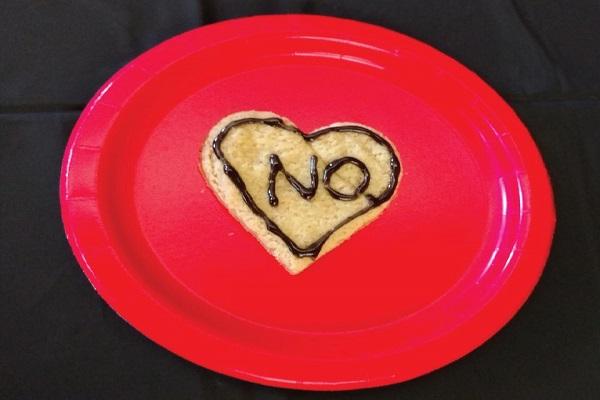 "An ""Anti-Valentine's Day"" cookie. Photo Courtesy / Edita Bardhi"