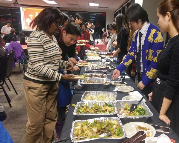 A variety of delicious food was catered by Khan's Mongolian Bar and Grill. Photo Courtesy / Maddi Petro