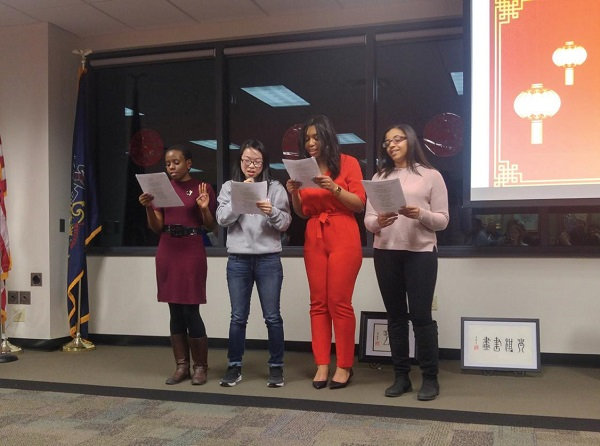 An acapella performance featuring several Chinese new year songs. Photo Courtesy / Maddi Petro